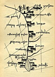 Волга, карта 1367 года